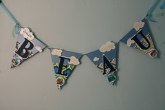 Baby Boys Room Decoration Art (inmyblueroom) Tags: birthday blue boy anna dog baby art girl glitter silver gold anniversary room name banner decoration garland scrabble custom babys griffin darcey bunting celebtation