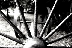 Future? (LaKry*) Tags: sculpture abstract grass wheel blackwhite wheels meadow erba future astratto prato biancoenero futuro ruota scultura ruote lusiana parcodelsojo
