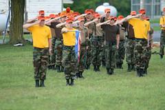 Saluting (pawg) Tags: civilairpatrol encampment fortindiantowngap pawg pennsylvaniawing cadetleadershipschool