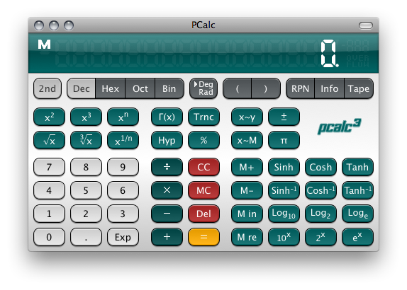 Slashdot theme for PCalc