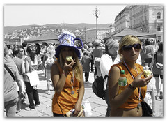 wonderful girl after the race (Alessandro Comuzzi - portfolio on www.alessandroco) Tags: trieste selective selectivecolour bavisela