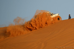 Action Sandy (TARIQ-M) Tags: texture car landscape sand waves desert action dunes toyota riyadh saudiarabia          canon400d       canonefs18200mmf3556is