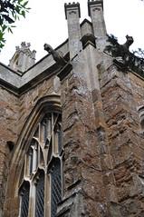 Bloxham 15th century Milcombe chapel gargoyles DSC_0003_01-560 (bwthornton) Tags: travel art history tourism church walking churches stainedglass tourist steeple guide gargoyles stmary oxfordshire banbury webb williammorris wallpaintings bloxham burnejones churchcrawling morrisandco milcombechapel