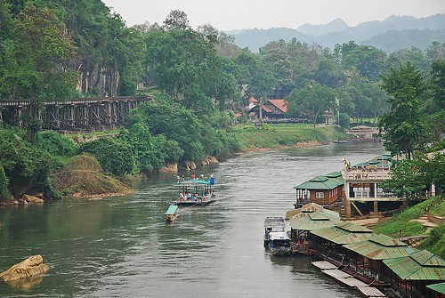 Death Railway in Kanchanaburi River Kwai