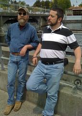 Ron and Jerry at the Ballard Locks.