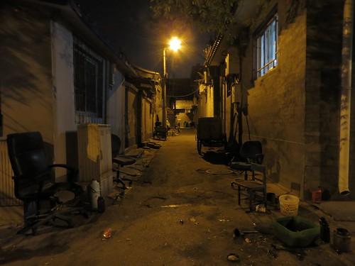 Dusty old Beijing alley at night (ashabot) Tags: china street abandoned night nightlights beijing cities midnight streetscenes lightanddark shadowsandlight