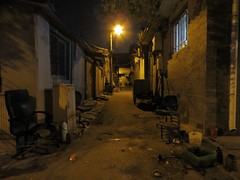 Dusty old Beijing alley at night (ashabot) Tags: china street abandoned night nightlights beijing cities midnight streetscenes lightanddark shadowsandlight vision:street=0513 vision:dark=0727 vision:sky=0817