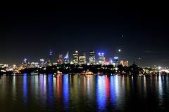 Sydney By Night (Jacob Wighton) Tags: city water skyline night wow reflections harbour sydney gardenisland abigfave anawesomeshot