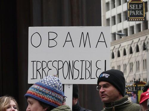 Obama Irresponsible