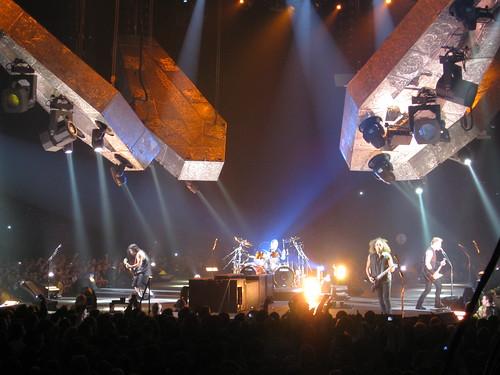 Metallica live onstage