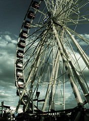 carnival, ferris wheel (seehowtheyrun) Tags: carnival wheel dark gloomy sad running clueless emotions clours