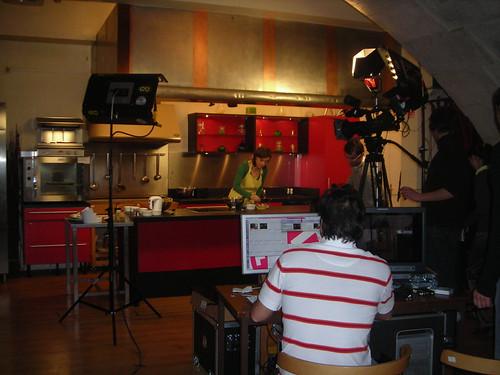 tournage cuisine studio tv