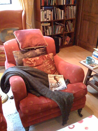 A good chair, a warm shawl, something worthwhile to read and a nice cup of tea...