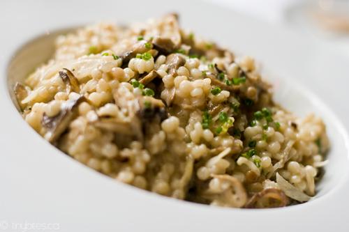 Wild mushroom risotto (by tiny bites)