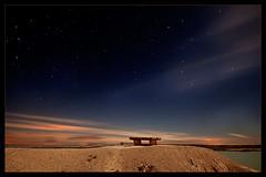 Serie azul II 8 Marzo 2009 9 Dedicada a Wisonet (martin zalba) Tags: espaa night stars spain desert estrellas nocturna desierto navarra bardenas sigma1020 canon50d martinzalba