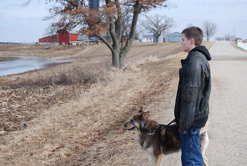 Spunky & I On a Walk in Farm Country