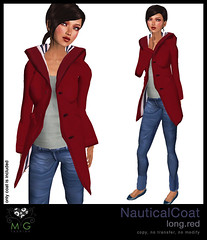 [MG fashion] NauticalCoat.long.red