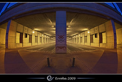 Tunnel vision @ Brussels, Belgium :: Long Exposure :: Fisheye (Erroba) Tags: street longexposure blue brussels orange yellow night photoshop canon rebel lights purple belgium belgique tripod perspective belgi bruxelles sigma tunnel symmetry fisheye tips remote erlend brussel cs3 10mm blackmagic blueribbonwinner xti 400d mywinners erroba robaye erlendrobaye