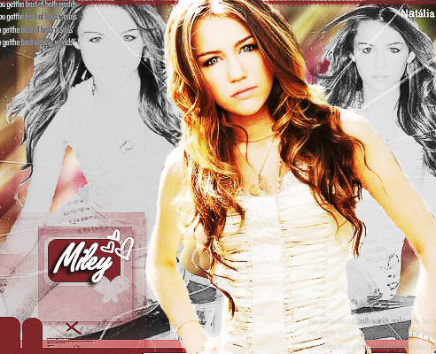 Miley Cyrus - Blend (shattered) by nathy_hd.