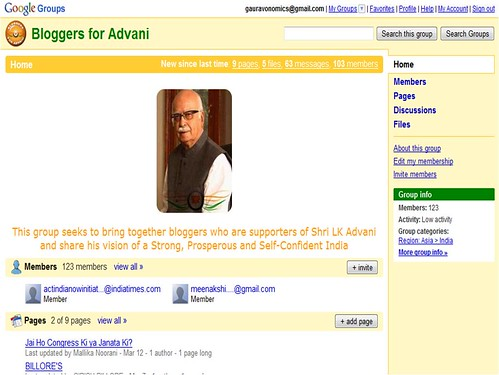 Bloggers for Advani