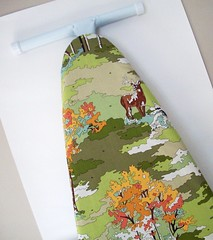 Paint by Number Ironing Board Cover (citychiccountrymouse) Tags: green forest woods sewing deer lush paintbynumber ironingboardcover erinmichael