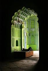 sleeping past (nandadevieast) Tags: travel india green heritage history lucknow imambara anuragagnihotri nandadevieast