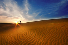 """ When the sunset want to say something to you "" (Sayid Budhi) Tags: blue sunset sky beautiful clouds desert bluesky vietnam sanddune senja phanthiet muine padangpasir vietnamsky bhinthuan"