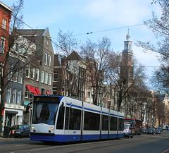 Westerkerk & Tram Amsterdam (MrScroobs) Tags: holland netherlands dutch amsterdam thenetherlands tram keizersgracht westerkerk