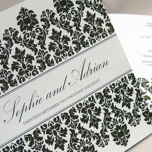 Regency chocolate wedding invitation from mini Moko, Regency Wedding invitation idea, wedding invitation sample,, wedding invitation, flowers, photos