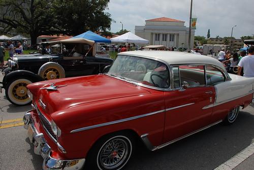 classic cars at coral gables market