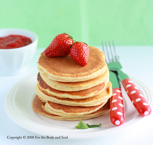 ... soul...: Taste & Create: Whole Wheat Pancakes with Strawberry Sauce