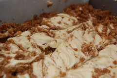 swirl the cinnamon mixture