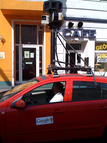 Google Streetview Car in Vienna. Spitalgasse
