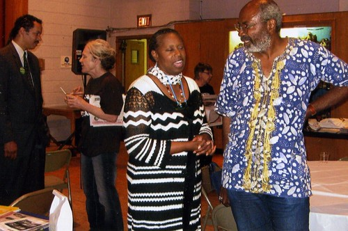 Abayomi Azikiwe, editor of the Pan-African News Wire, interviewing former Congresswoman Cynthia McKinney at the International Institute in Detroit during the summer of 2008. McKinney was on a campaign presidential stop for  the Green Party. by Pan-African News Wire File Photos
