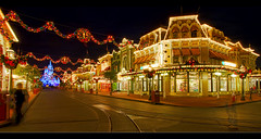 Main Street USA (Jeff_B.) Tags: christmas usa night epcot mainstreet december explore disneyworld nighttime 1001nights magickingdom smalltown waltdisney disneyphotochallengewinner