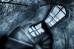 (Stevacek) Tags: blue sunlight monochrome stairs mono nikon steps hdr spiralstaircase d300 sigma1020mm valdtejn valdtsejn
