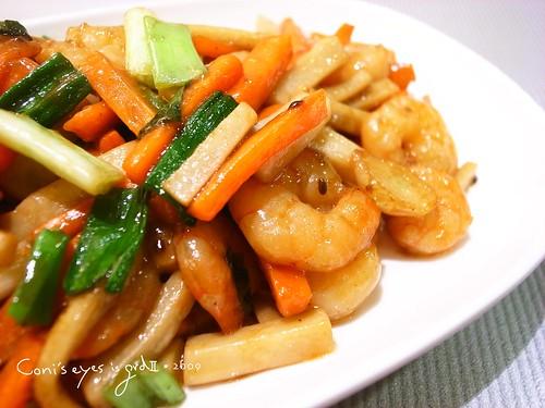 烤肉醬炒蝦仁