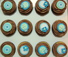 Birthday Cupcakes (Klaire with a Cake) Tags: birthday blue flower little chocolate cupcake tlc cupcakery xirj klairescupcakes