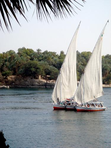 Egypt 124 10-04-09 Felluccas on Nile