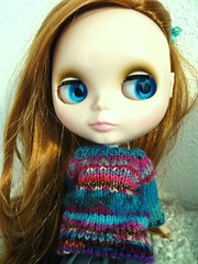 A new sweater for Genevieve!
