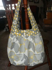 Yellow and Gray Amy Butler Birdie Sling Bag (mle_val) Tags: amybutler birdiesling baglotusyellowgraypurse