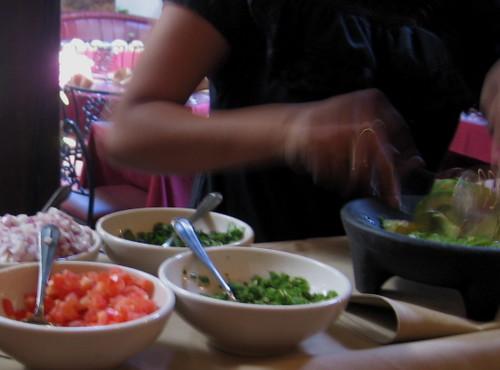 Noelia Making Guacamole