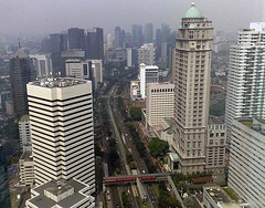 Sudirman Jakarta (Mangiwau) Tags: street city london tower sumatra indonesia drag downtown main capital palm capitol jakarta oil raya jalan indonesian kelapa kota menara rups agm wisma cpo sumatera thoroughfare gedung lsip sudirman indofood ibukota earthasia sawait