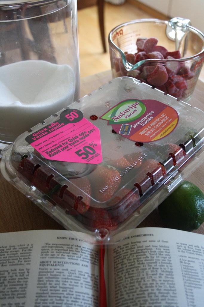 My first batch of jam: Strawberry Rhubarb
