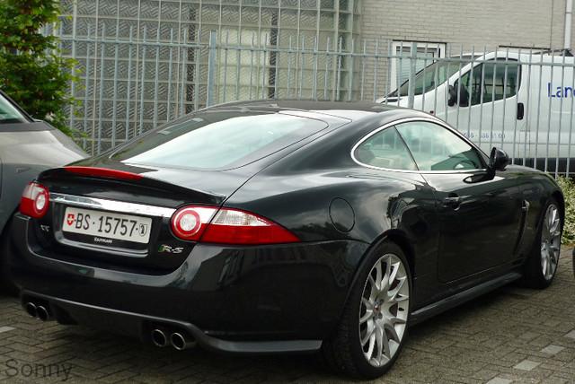 black car jaguar xkrs