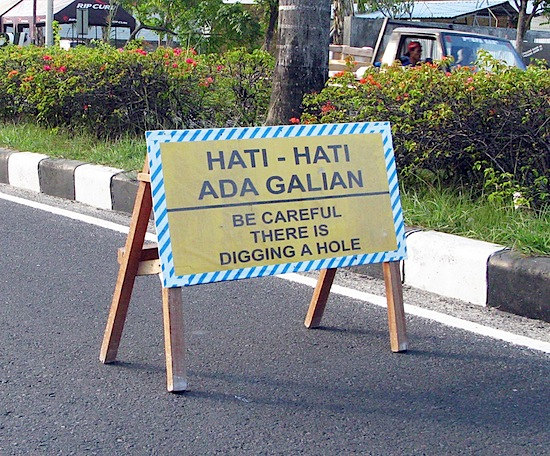 Sanur roadworks