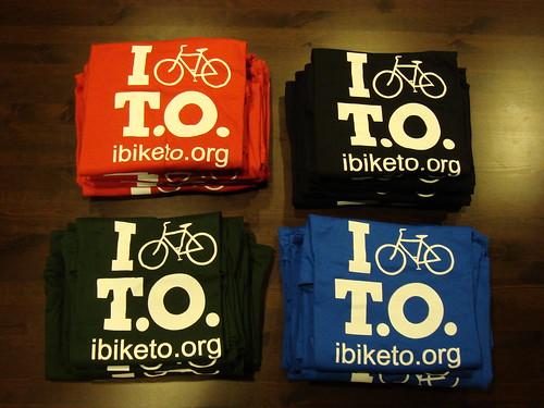 I Bike T.O. shirts!