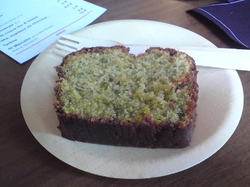 Merci: Cake à la pistache