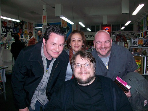 Guillermo Del Toro with Jeremy Rogers and David Accampo