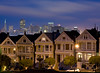 Painted Ladies (kaoni701) Tags: sf sanfrancisco california park city longexposure blue sky usa house skyline architecture night square lights evening dusk painted victorian transamerica alamo longshutter paintedladies